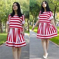 Ne Giydim: Choies Çizgili Elbise