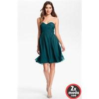 Yeşil Renkli Elbise Modelleri 2014