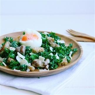 Boerenkool Caesar Salade