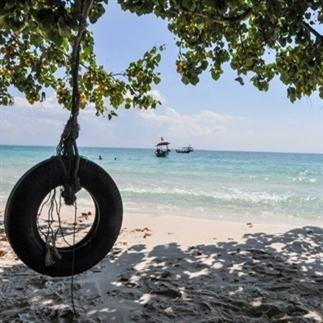 Het eiland Koh Rong; paradijs in Cambodja.