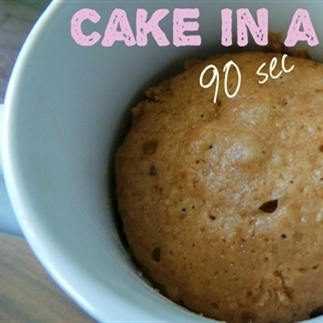 Cake in een mok recept