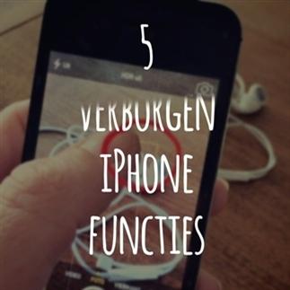 5 verborgen foto functies van je iPhone