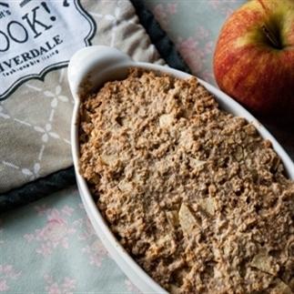 """Baked """"apple pie"""" oats (een gezond appeltaartje!)"""