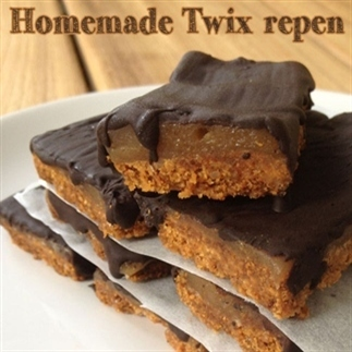 Homemade Twix repen