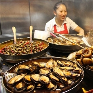 Street food en cafés in Beijing