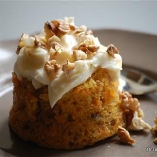 Walnoten-wortel taartjes