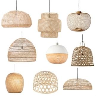 9x zomerse hanglampen