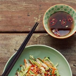 Vietnam salade met kip - eenvoudig oosters recept