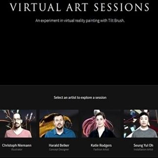 Tilt Brush actie bekijken op Gear VR of cardboard?