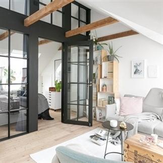 Binnenkijken: Loft met Scandinavisch interieur