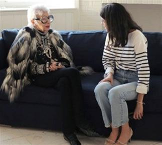 Leandra Medine ontmoet Iris Apfel