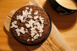 Gezond chocoladetaartje met kokos