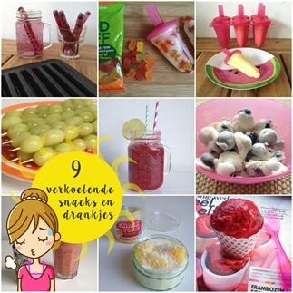 9 verkoelende snacks en drankjes