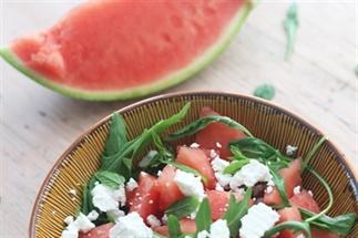 Watermeloen met feta salade recept