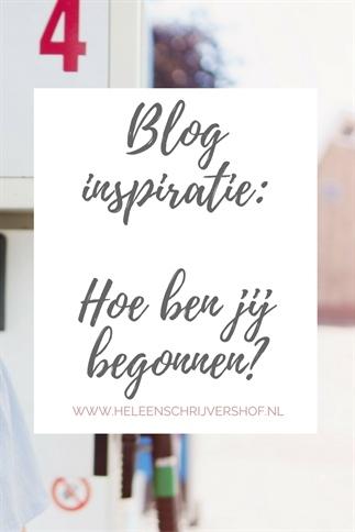 Blog inspiratie: hoe ben jij begonnen?