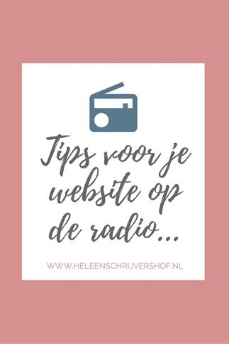 Tips voor je website op de radio...