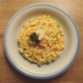 Recept: risotto met groenten en garnalen