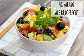 4x Salade als bijgerecht