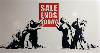 Banksy naar de Beurs