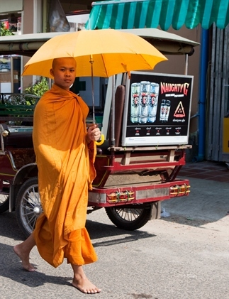 Cruise Cambodja: monniken en pagodes in pastels