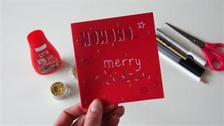 DIY kerstkaart met glitters