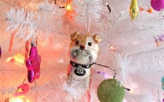 Een kijkje in onze vrolijke kerstboom.