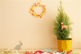 Kerstkrans van papier