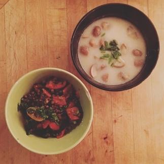 Recept: romige bloemkoolsoep en linzensalade