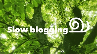 Slow bloggen