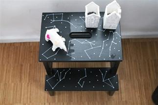 Sterrenstelselkrukje (Ikea hack)