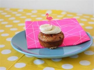Muffins met Nutella en banaan!