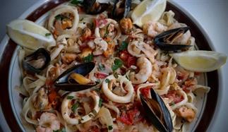 pasta met zeevruchten