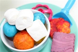 Eetbare marshmallow klei