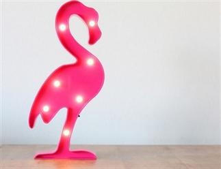 Flamingo lamp voor zomerse sfeer in huis.