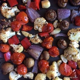 Geroosterde groenteschotel