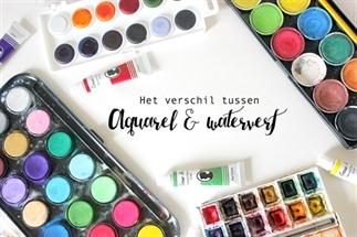 Het verschil tussen waterverf & aquarelverf!
