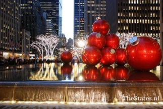 Kerstsfeer in New York