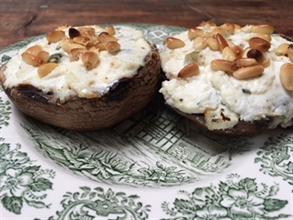 Portobello paddenstoelen met ricotta en munt