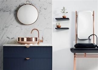 6x de mooiste badkamers met koperen details
