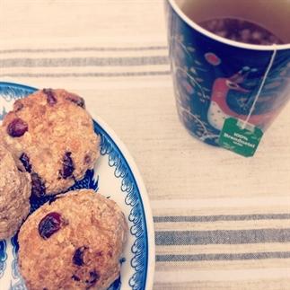 Haverkoeken met kokos en cranberries
