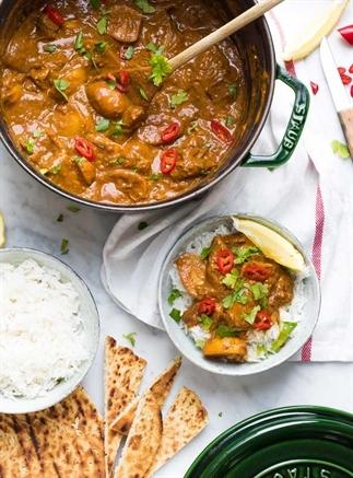 Indiase kipcurry met aardappels