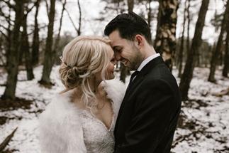 Loop jij warm voor een bruiloft in de sneeuw?