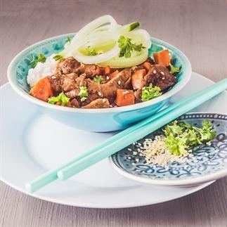 Slow cooker Mongools rundvlees