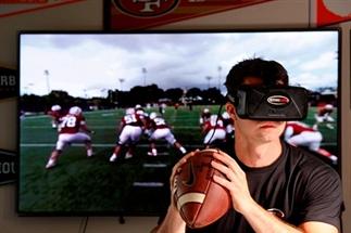 Sport educatie met een headset