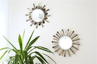 Sunburst spiegel van wegwerpbestek