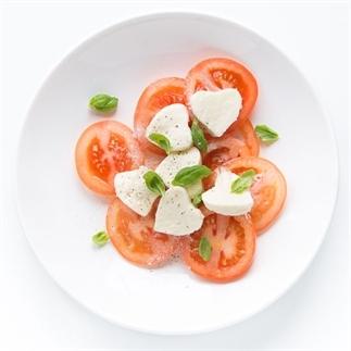 Valentijns salade caprese