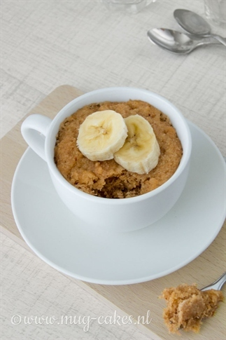 Vegan mug-cake zonder ei (glutenvrij)
