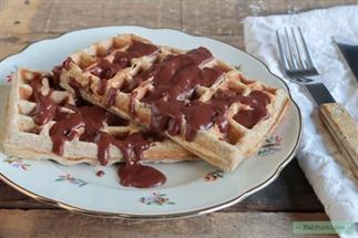 Wafels met homemade chocoladesaus