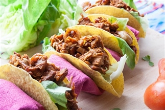 Barbecue jackfruit taco's