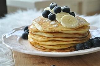 Kwark pannenkoekjes met vers fruit